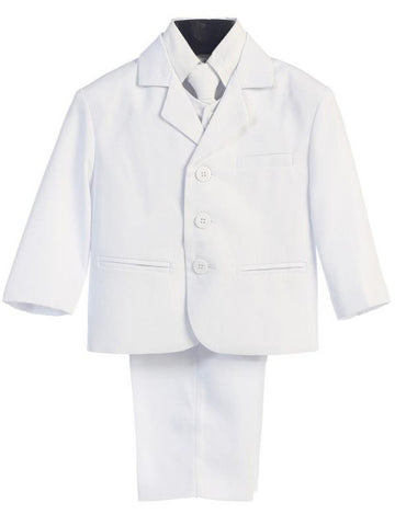 White 5 Piece Suit with Vest Sizes 8 to 20H