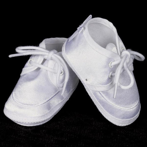 Boy's White Satin Bootie by Lito