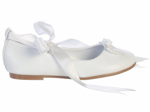 Rose Ballerina Flats with Satin Ribbon