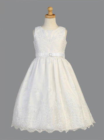 Floral Embroidered Organza First Communion Dress - LT-SP150