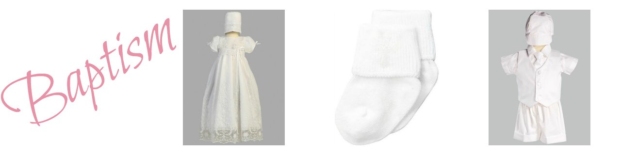 Baptismal gowns & Boys Baptism rompers