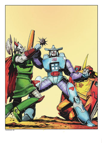 A3 Transformers Print - Jeff Anderson Illustration