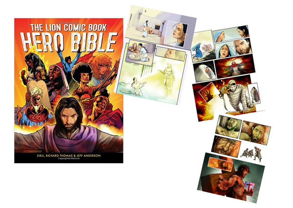 The Lion Comic Book Hero Bible - Jeff Anderson Illustration
