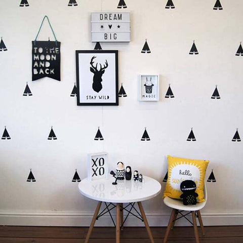 Tent Shape Wall Decal ...