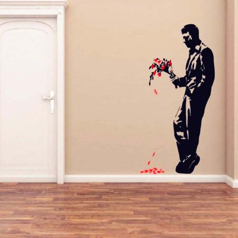 Man Bouquet Banksy Wall Decal Man Bouquet Banksy Wall Decal Part 40