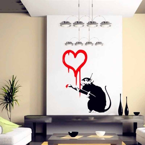 Love Sick Banksy Wall Decal Decal Portal - Portal 2 wall decals