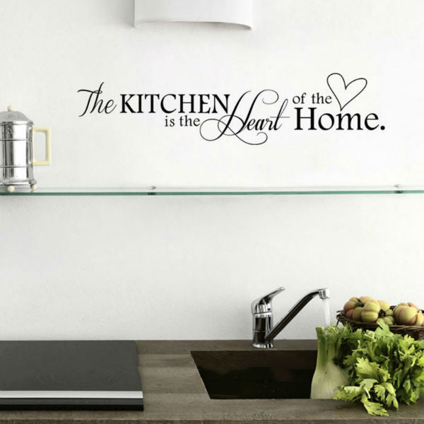 The Kitchen Is The Heart Of The Home Quotes Wall Decal