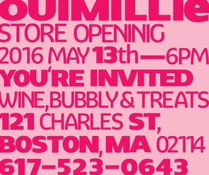 Ouimillie new shop opening! 13th of May! Save the date!