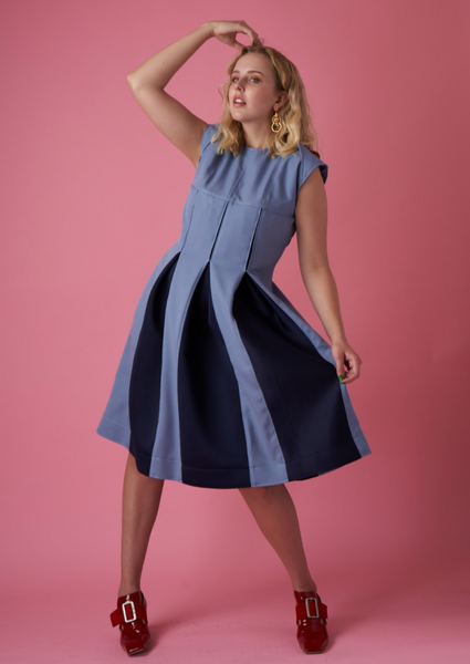 Ouimillie x MCK - L'aile Blue Panel Dress