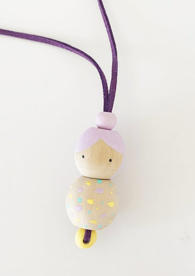 Marcela Homrich- Wooden Doll Necklace