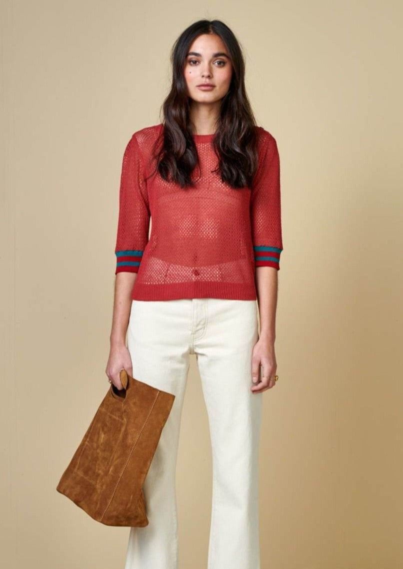 Bellerose - Dohy Sweater Tee: Red Dahlia - ouimillie