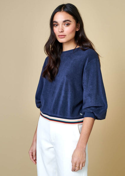 Bellerose - Vish Sweatshirt: Blue Nights - ouimillie