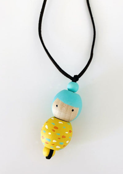 Marcela Homrich- Wooden Doll Necklace - ouimillie
