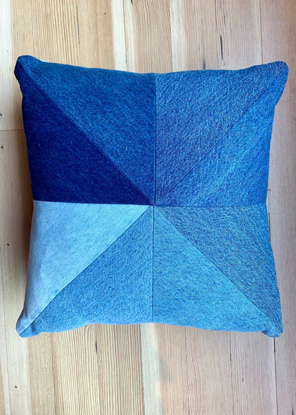 Baby Cila - Denim Patchwork Pillow