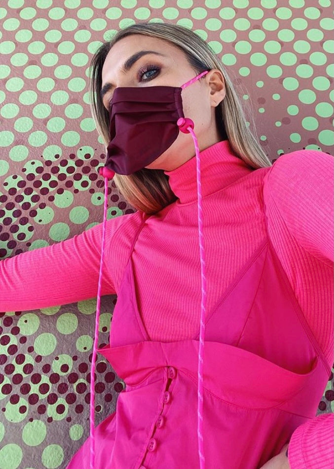 An_Erin - Ripstop Mask: Berry & Pink