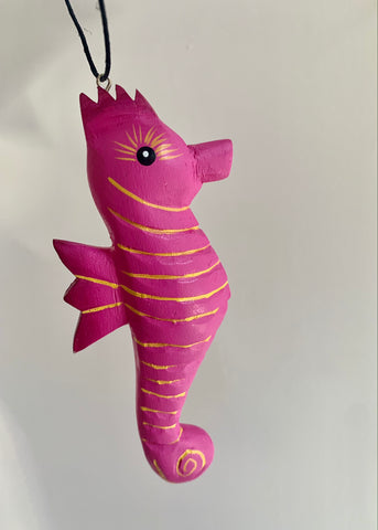 Women of the Cloud Forest - Pink Seahorse Ornament