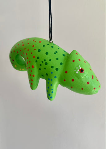 Women of the Cloud Forest - Green Chameleon Ornament