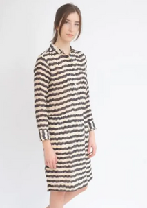 Tinsels - Marja Dress: Noir Stripe