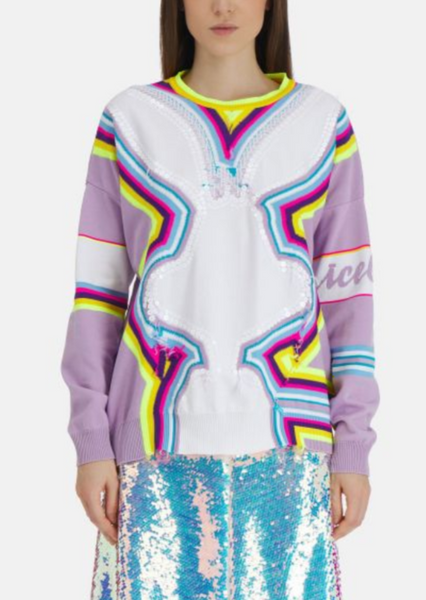 Iceberg - Bunny Neon Stripe Sweater
