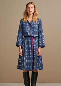 Bellerose - Lake Dress: Navy and White