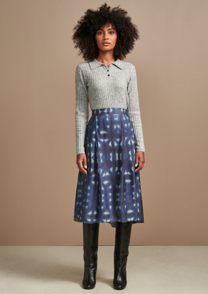 Bellerose - Pacific Skirt: Blue and White