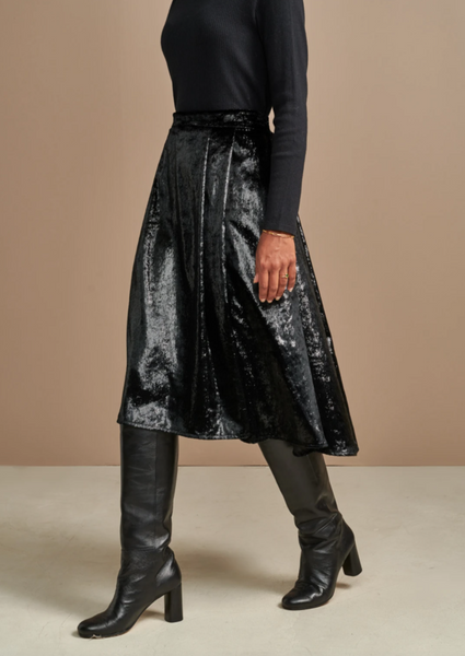 Bellerose - Pacific Skirt: Black Velours