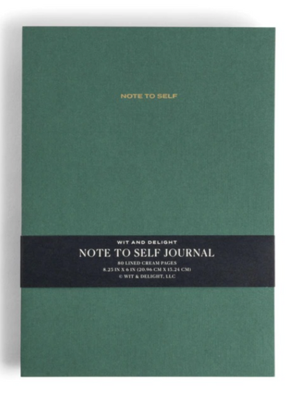 Wit & Delight - Note to Self Journal: Green