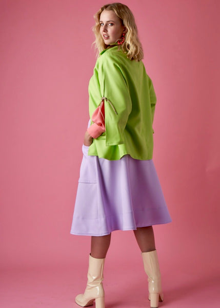 Ouimillie x MCK - La Forme Green Cape Coat