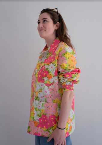 The Series - Floral Chore Shirt: Small