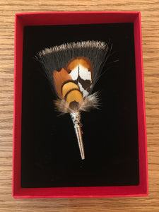 My Bob- Feather Brush Brush Beige & Brown - ouimillie