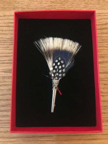 My Bob- Feather Brush Brooch Blues - ouimillie