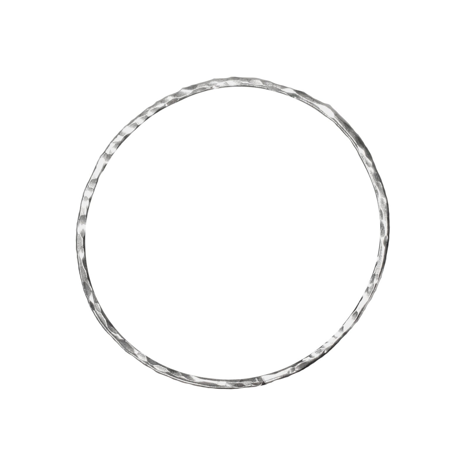 Signature 2mm Skinny Hammered Bangle