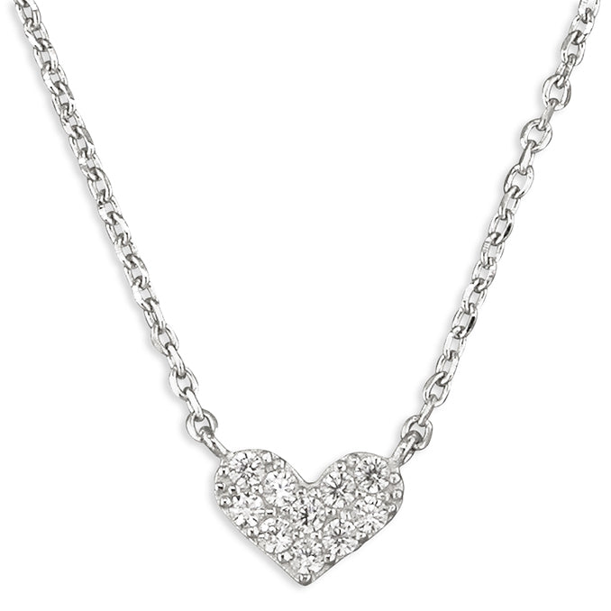 Sparkle Bubble Heart Necklace