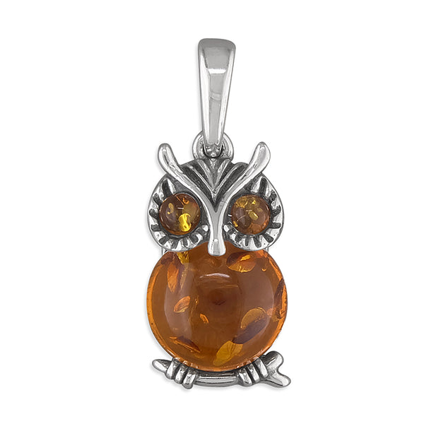 Amber Owl Necklace