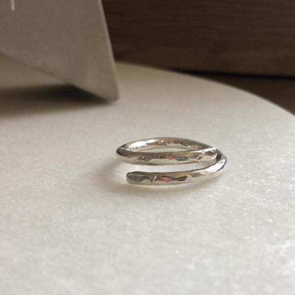 Signature Hammered Wrap RIng