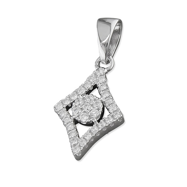 Diamond Shape Sparkle Necklace