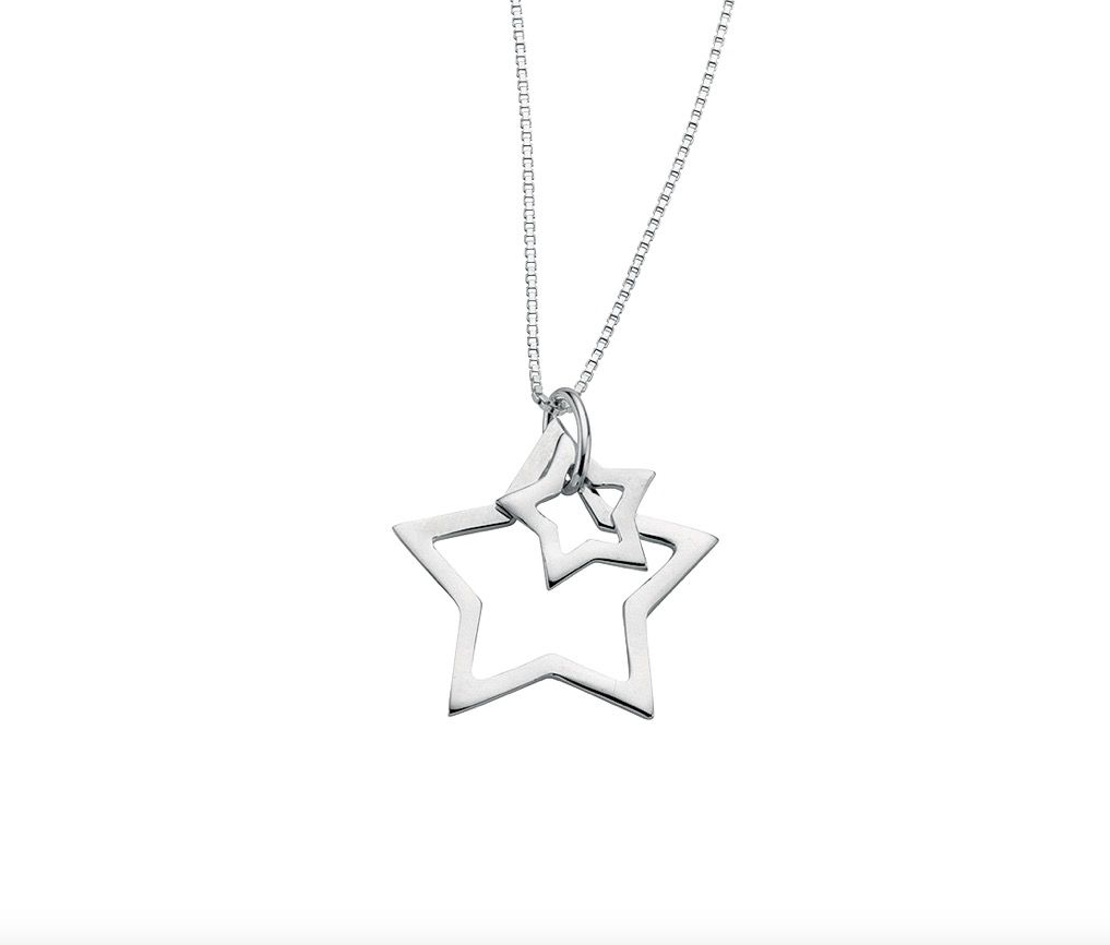 Double Open Star Necklace
