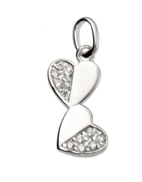 Pave Double Heart Necklace
