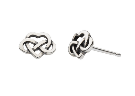 Celtic Knot Heart Studs