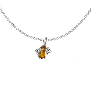 Amber Bee Necklace