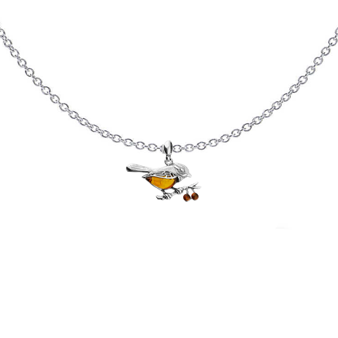 Amber Bird Necklace