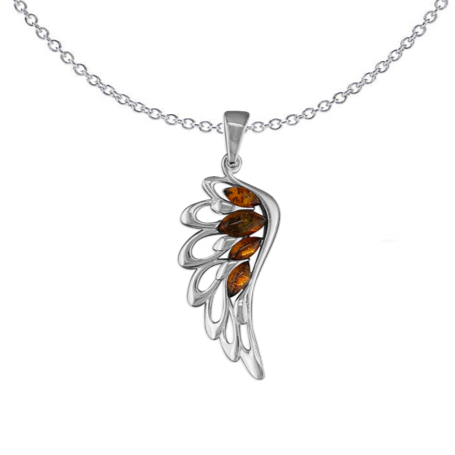 Amber Angel Necklace
