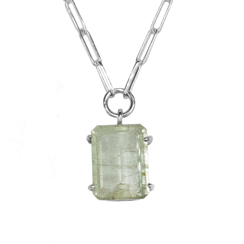 Aquamarine Signature Stone Necklace