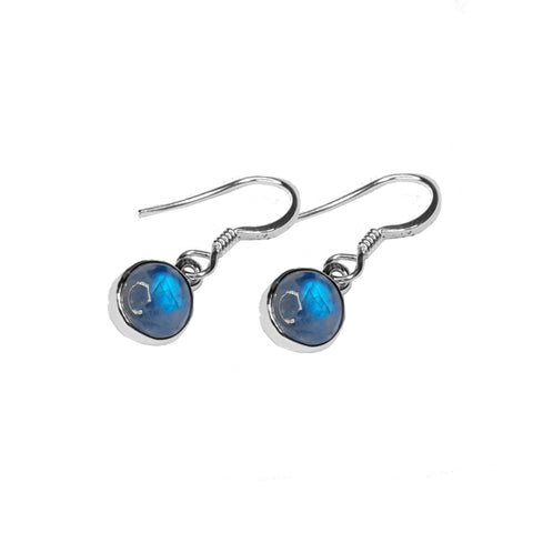 Blue Moonstone Drop Earrings