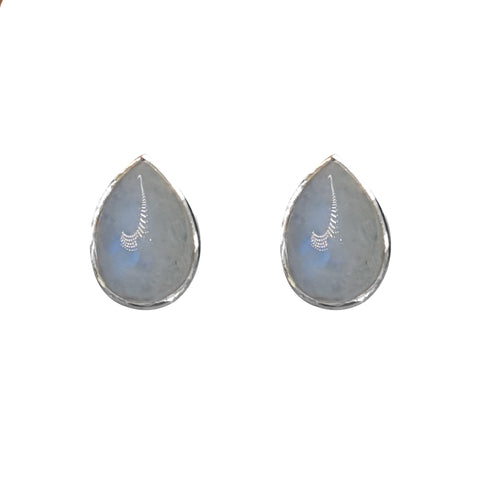 Blue Moonstone Teardrop studs