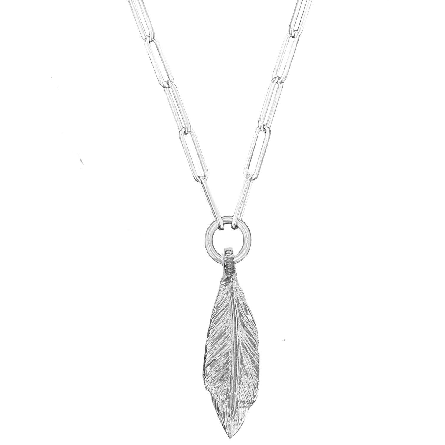 Signature Maxi Feather Trace Necklace