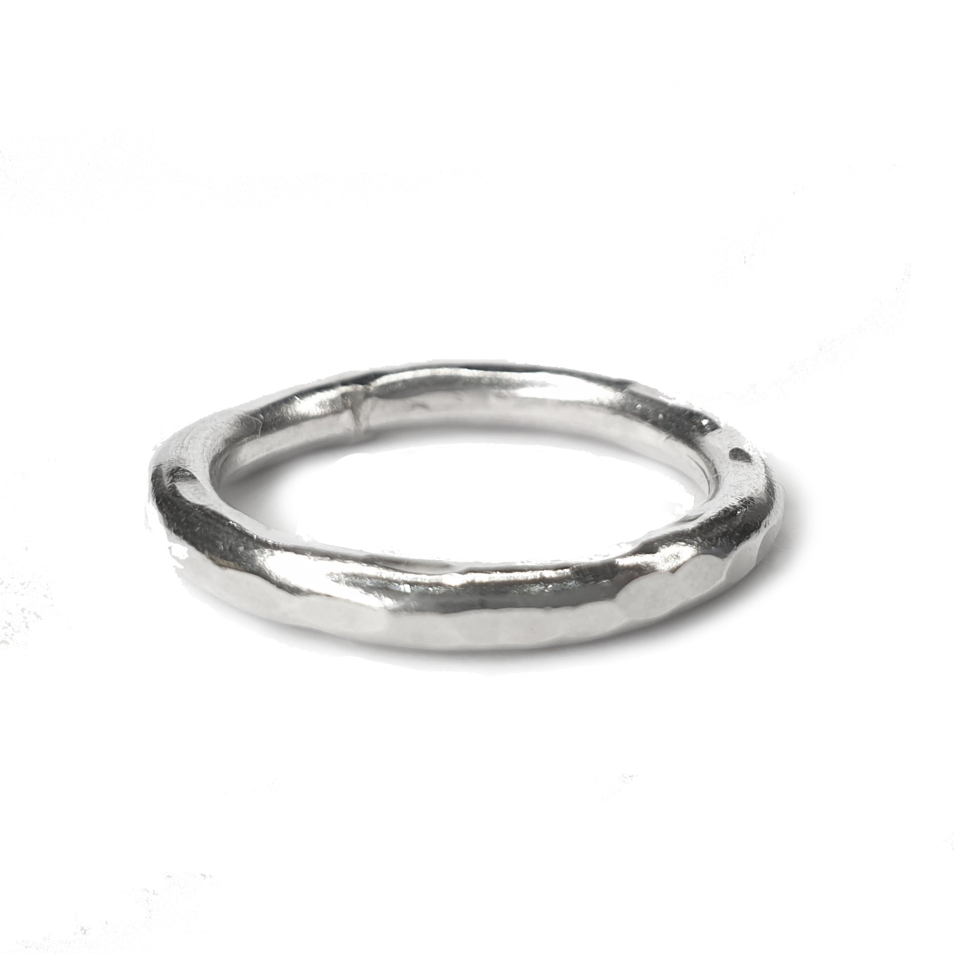 Signature Hammered Stacking Ring