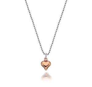 Gigi Rose Heart Necklace