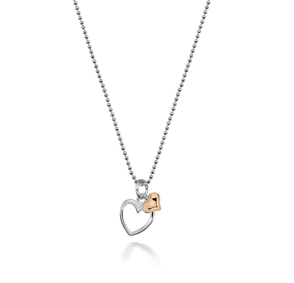 Alicia Double Rose Hearts Necklace