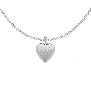 Diamond Cut Heart Locket